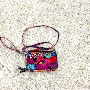 Vera Bradley Crossbody wallet with phone pocket